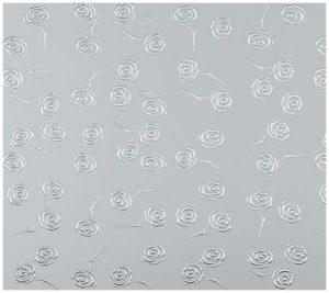 garderobemannen, Design dekor - 3D roses silver