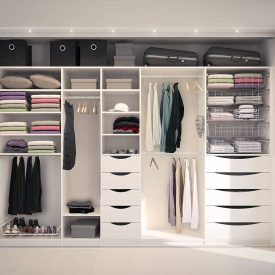 garderobemannen, innredning, garderobeskap